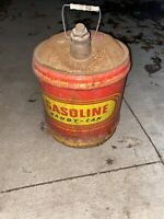 vintage Metal Liberty five gallon gas can ~ GASOLINE HANDY-CAN ~ 5 Gal