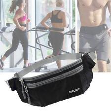 Outdoor Sport Bum Bag Fanny Pack Travel Waist Money Flexible Belt Pouch Black BA