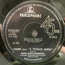 "KEITH WEST / MARK WIRTZ ORCHESTRA EXCERPT FROM A TEENAGE OPERA 1967 POP 7"" VINYL"