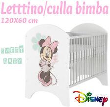 LETTINO CULLA BIMBO 120X60 CM!NUOVA COLLEZIONE DISNEY2016 MINNIE
