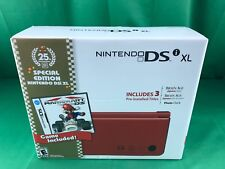 Nintendo DSi XL 25th Anniversary Edition with Mario Kart Red Handheld System NEW