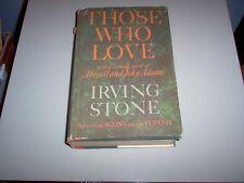 """Those Who Love"" A Biographical novel of Abigail and John Adams-hardback"