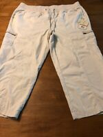 Caribbean Joe Women's Pants Stretch Pants Sand Khaki Cargo Tie Leg Size 16W NWT