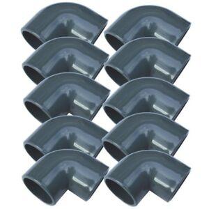 10 Stück PVC-Winkel 50 mm - 90° Sandfilter PVC-Rohr Teichfilter Poolpumpe