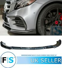 MERCEDES BENZ E CLASS W213 A238 C238 AMG CARBON LOOK FRONT SPLITTER LIP SPOILER