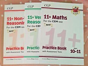 11+ CGP CEM practice book bundle Maths, Verbal reasoning&Non-verbal reasoning