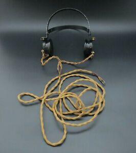 Genuine 1940 WW2 British Military CLR Type Wireless Headphones Army / RAF - VGC
