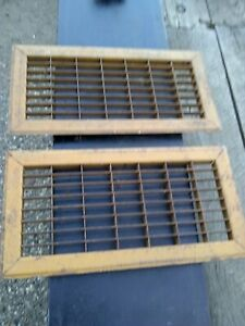 Vintage Metal Floor Grate Size 16 x 8 1/4 inches.