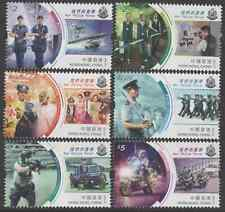 HONG KONG POST:  OUR POLICE FORCE stamp set of 6 (2019 issue) Mint