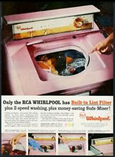 1957 Whirlpool Imperial pink washer washing machine photo vintage print ad