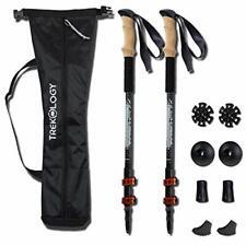 Walking Trekking Poles 2pc/set - Lightweight Collapsible Adjustable