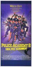 POLICE ACADEMY 2 Original Daybill Movie poster DREWSTRUZAN Art Steve Guttenberg