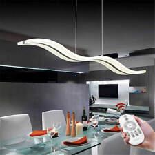 Modern Wave LED Ceiling Light Living Room Pendant Chandelier Dimmable Lamp /