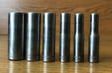 "Craftsman G2 1/4"" Dr 6 Point Deep Socket U.S.A. 43587 9/16"" to 43572 7/32"" Pick"