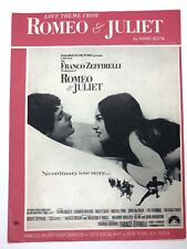 Love Theme From Romeo and Juliet by Nina Rota Vintage 1968 Sheet Music