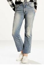 Womens Size 4 New Levi's Mid Rise Light Blue Kick Flare Ankle Jeans Size 27 x 28