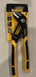 DEWALT Push Lock Pliers 8 Inch Straight Jaw Cushion Grip CHN DWHT74426