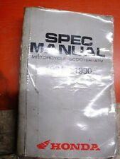 1981-1990 Honda Motorcycle Scooter Atv Factory Spec Manual Specifications Book