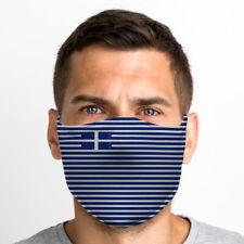 Griechenland Flagge Eine Größe Wiederverwendbar Waschbar Atmungsaktiv Face Maske