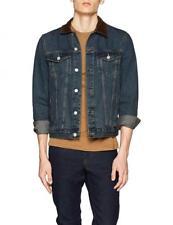 "Men`s NEW LOOK Cord Collar Denim Jacket Size XL / 44"" Chest BNWT - RRP £35"