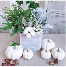 12Pcs Halloween White Artificial Pumpkins Harvest Fall Thanksgiving Decorative