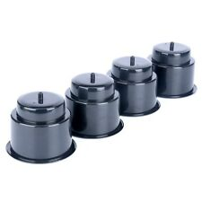 4pcs Boat black Recessed Plastic Cup Drink Can Holder with Drain -new durable