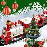 1Set Christmas Musical Light Train Trees Box Set Xmas Ornament Kid Gift Toy HF