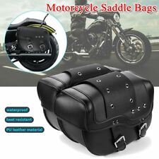 2x BLACK MOTORCYCLE SADDLE BAGS SIDE LUGGAGE FOR HARLEY SPORTSTER XL883 1200 US