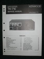 Kenwood TK-710 Service Manual Compact Synthesized UHF FM Two-Way Radio TK 710