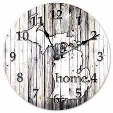 MICHIGAN RUSTIC HOME STATE CLOCK Huge 15.5 inch Clock_2231-16
