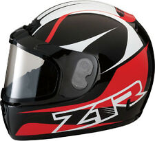 Z1R PHANTOM HELMET + ELECTRIC SHIELD SNOWMOBILE SNOW FULL FACE RED MEDIUM M MED