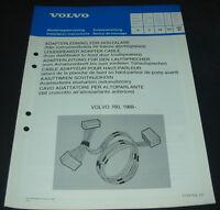 Einbauanleitung Volvo 760 Adapterleitung Lautsprecher ab Baujahr 1988!