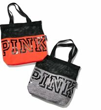 VICTORIA'S SECRET PINK 2018 LIMITED EDITION MESH NEON RED TOTE BAG NEW!