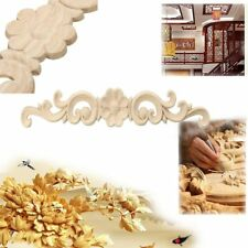 Wood Carved Decal Appliques Frame Wall Doors Decoration Wooden Figurines