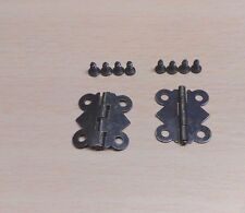 1 PAIR - 20 x 17mm Bronze Butterfly Door Hinges for Jewellery Box / Doll House