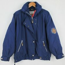 Obermeyer Jacket Blue ski winter snow jacket 10 embroidered woman's Size 10