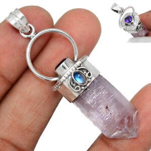 Vera Cruz Amethyst Crystal, Moonstone & Amethyst 925 Silver Pendant BP105630