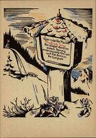 Color Künstlerkarte Kunst Postkarte Grab Friedrich Jung vom Verlag Stegmann