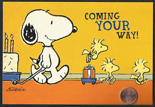 PEANUTS Snoopy Woodstock Birds Cake - Religious Birthday Greeting Card - NEW
