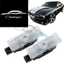2x No Fading LED Door Projector Light for Dodge Challenger 2008-2020 Pure White