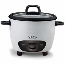 Aroma Housewares 6-Cup (Cooked) (3-Cup UNCOOKED) Pot-Style Rice Cooker (ARC-743G