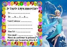 5 cartes invitation anniversaire Disney la reine des neiges 02 d'autres en vente