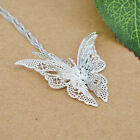 Women Lady 925 Sterling Silver Plated Butterfly Necklace Pendant Hot Sell