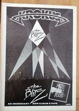 KROKUS The Blitz 1984 magazine ADVERT / Poster 11x8 inches