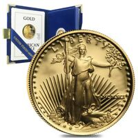 1991-P 1/10 oz $5 Proof Gold American Eagle (w/Box & COA)