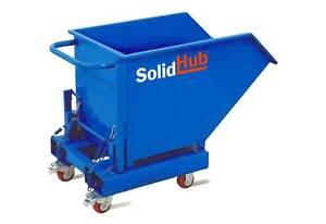 Muldenkipper, Kippbehälter, Schüttgutbehälter, Selbstkipper 287L & 1000kg Ladung