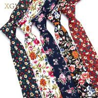 100% Cotton Tie Print Necktie Men Fashion Classical 6cm Slim Skinny Ties Flowers