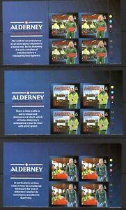 Alderney Stamps 2002 SG A197-A202  Community Service  Block of 4 Mint MNH