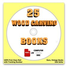 25 Rare Wood Carving Books on Computer Disc