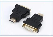 Adattatore da HDMI maschio a DVI-D dual link 24+1 Femmina convertitore nero
